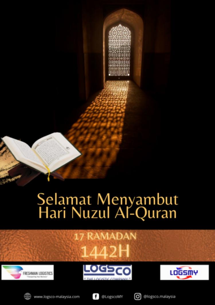 Selamat Menyambut Hari Nuzul Al-Quran 1442H